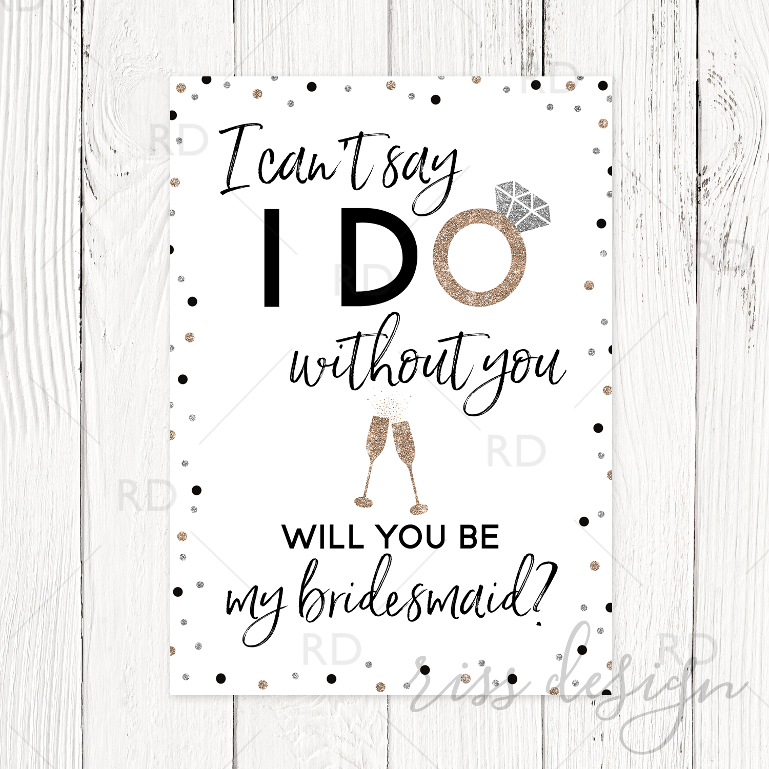 photo about Will You Be My Bridesmaid Printable referred to as I cant say I do devoid of your self will your self be my bridesmaid? Printable With Champagne Flutes