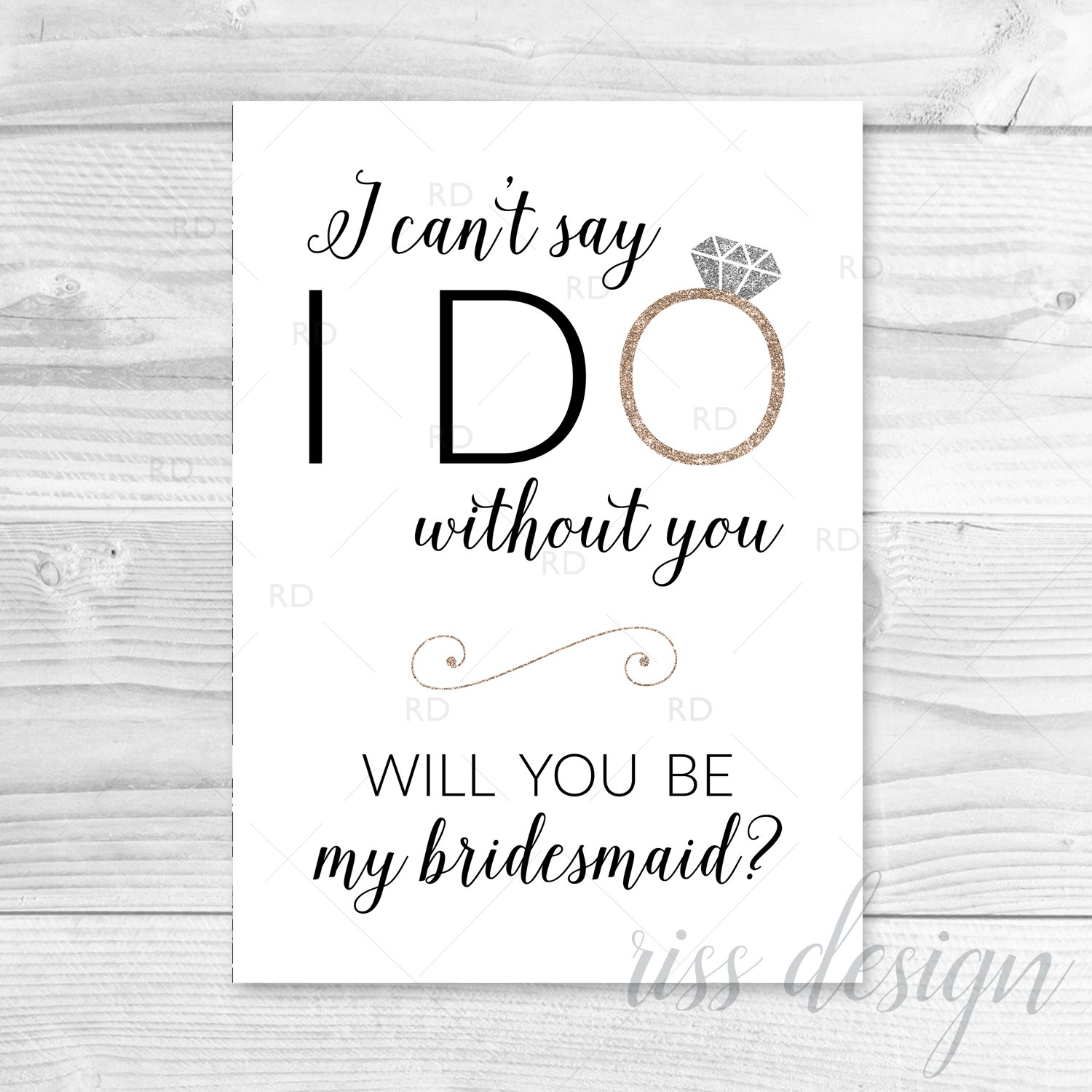picture relating to Will You Be My Bridesmaid Printable identify I cant say I do devoid of yourself will oneself be my bridesmaid? Printable